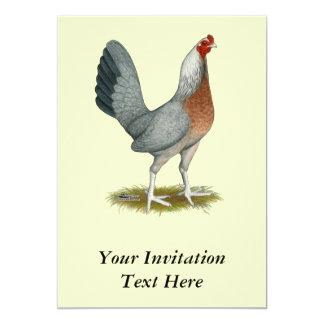 Cartão Azul americano da prata da galinha do jogo