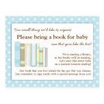 Cartão azul bonito do pedido da inserção do livro  cartoes postais