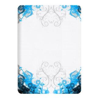 Cartão Azul & branco