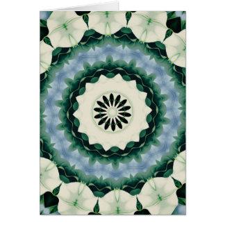 Cartão Azul Cerulean e mandala verde de Sacramento