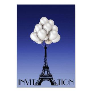 Cartão Azul chique Glam da torre Eiffel de Paris dos