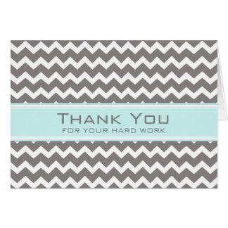 Cartão azul cinzento do aniversário do empregado