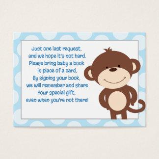 Cartão azul/cinzento do pedido do livro do cerco