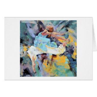 """Cartão azul """"confiança """" do dançarino"""