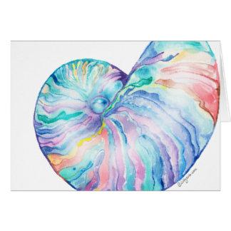 Cartão azul da aguarela de Shell da infinidade do