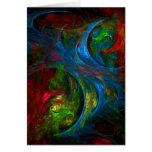 Cartão azul da arte abstracta da génese