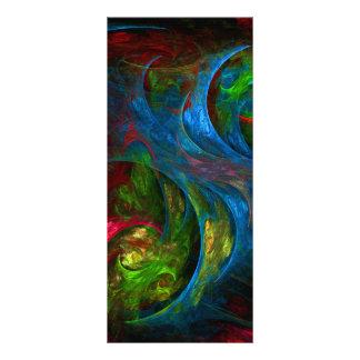 Cartão azul da cremalheira da arte abstracta da 10.16 x 22.86cm panfleto