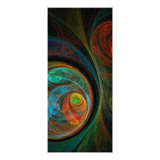 Cartão azul da cremalheira da arte abstracta do 10.16 x 22.86cm panfleto