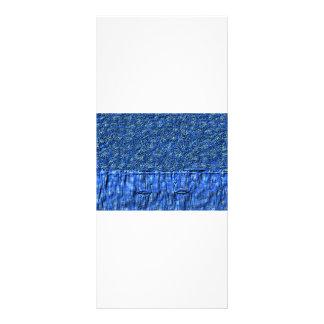 Cartão azul da cremalheira das cisnes 10.16 x 22.86cm panfleto