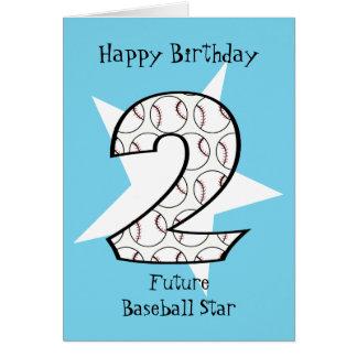 Cartão azul da estrela de basebol do segundo