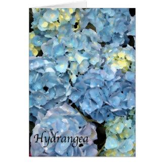 Cartão azul da flor do Hydrangea