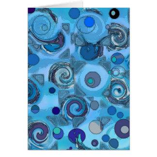 Cartão azul da metamorfose - abstrato