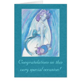 Cartão azul da noiva