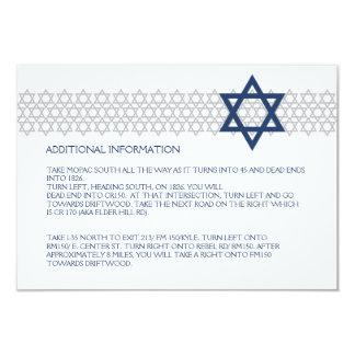 Cartão azul de brilho do cerco de Mitzvah do bar