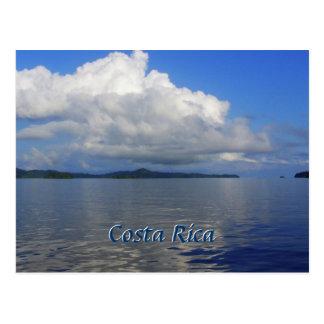 Cartão azul de Costa Rica