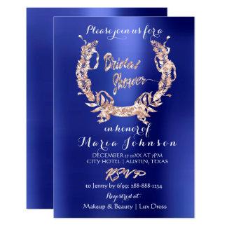 Cartão Azul de índigo cor-de-rosa do ouro da grinalda