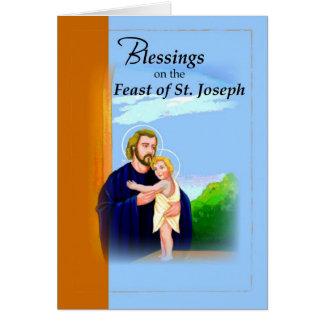 Cartão Azul do banquete de St Joseph de 3820 bênçãos