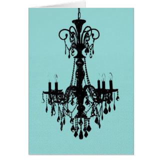 Cartão Azul do candelabro