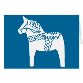 Cartão Azul do cavalo de Dala
