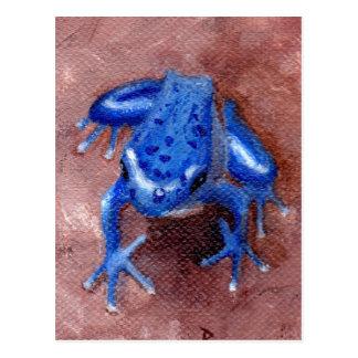Cartão azul do comedor de rãs