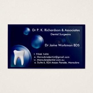 Cartão azul do design da bolha da arte dental