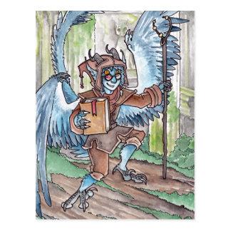 Cartão azul do Djinni