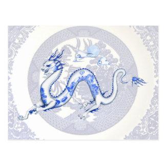 Cartão azul do dragão do salgueiro