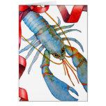 Cartão azul do feriado da lagosta