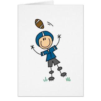 Cartão azul do jogador de futebol