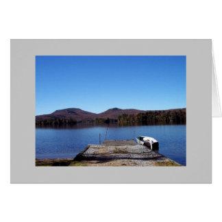 Cartão azul do lago Mt.