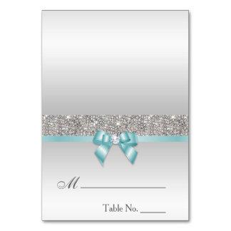 Cartão azul do lugar do arco da cerceta clara dos