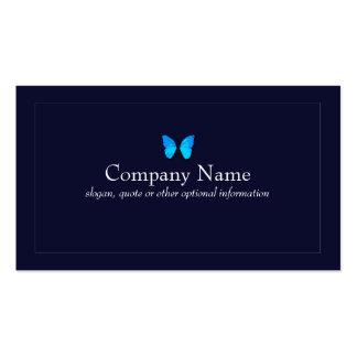 Cartão azul do marinho do negócio da borboleta cartão de visita