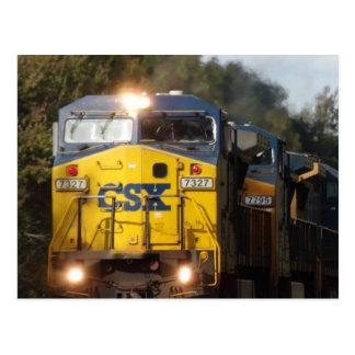 Cartão azul do motor do trem de CSX
