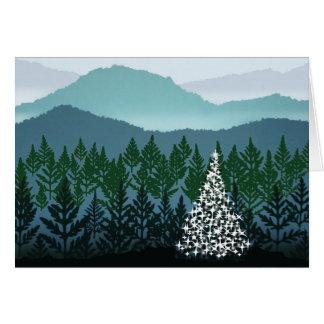 Cartão azul do Natal de Ridge