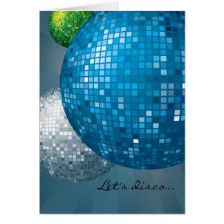 Cartão azul do partido do ano novo das bolas do