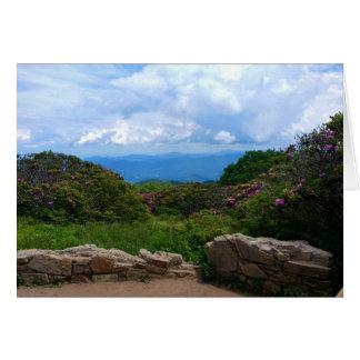 Cartão azul do primavera de Ridge