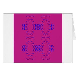 Cartão Azul do rosa dos elementos do design