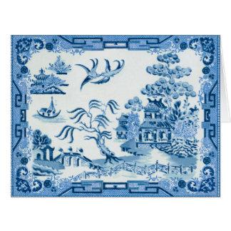 Cartão azul do salgueiro