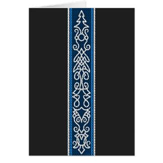 Cartão Azul do teste padrão de Viking