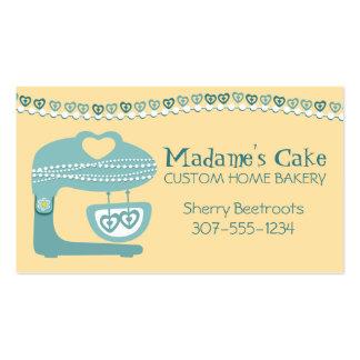 Cartão azul dos biscoitos do bolo da padaria do cartoes de visitas