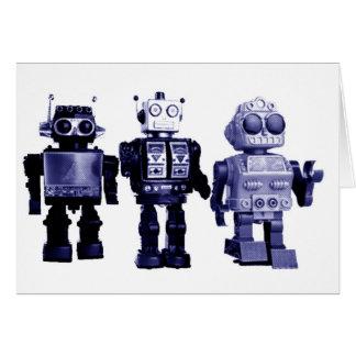 cartão azul dos robôs