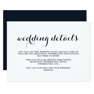 Cartão azul e branco do casamento litoral do