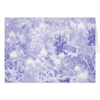 Cartão azul e branco simples