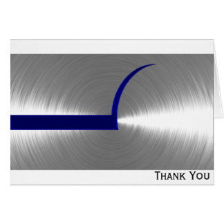 Cartão Azul e metal escovado prata