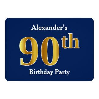 Cartão Azul, festa de aniversário do 90 do ouro do falso