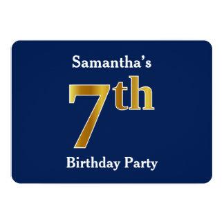 Cartão Azul, festa de aniversário do ouro do falso 7a +