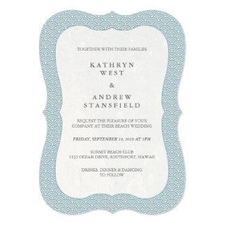 Cartão Azul formal mínimo + Casamento branco do teste