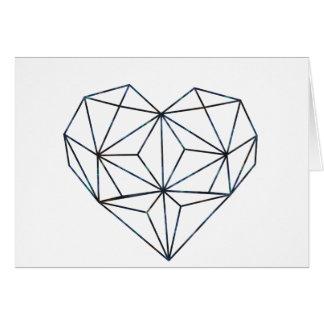 Cartão azul-galaky-Geo-coração