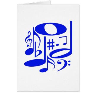Cartão azul musical