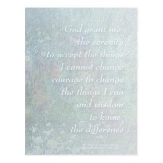 Cartão azul pálido dos Wildflowers da oração da